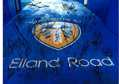 Leeds United Multi Hand Signed 10 x 8 inch authentic football photograph SS741A