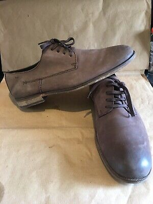 Clarks Mens Shoes Brown Nubuck Leather Derby Lace Up Shoes UK 9
