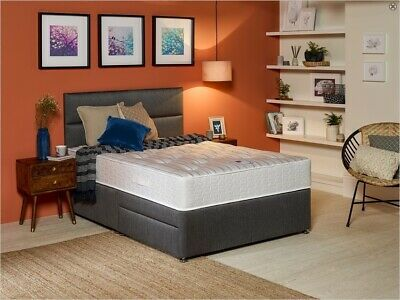 ORTHOPEDIC DIVAN BED SET WITH MATTRESS HEADBOARD SIZE 3FT 4FT6 Double 5FT King
