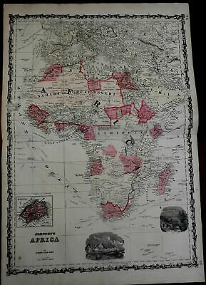 African Continent St. Helena's Island 1864 Johnson & Ward map Scarce Issue