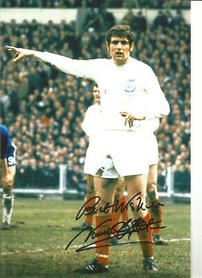 Norman Hunter Leeds United Signed 12 x 8 authentic football photograph SS748B