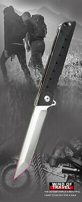 """4.9"""" G10 Handle ball bearing Folding Knife with D2 Tanto Blade Pocket Knife"""