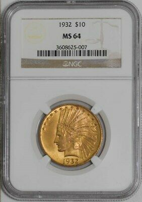 1932 $10 Gold Indian  MS64 NGC  941492-16