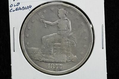 1877-S Trade Dollar Old Cleaning 0O9M
