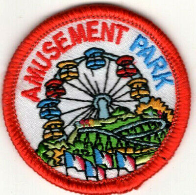 """/""""AMUSEMENT PARK/"""" Iron On Patch Games Rides Fun County State Fair"""