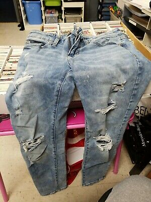American Eagle Next Level Flex Jeans Boys Size 28 X 30 Slim Pants Rip Blue