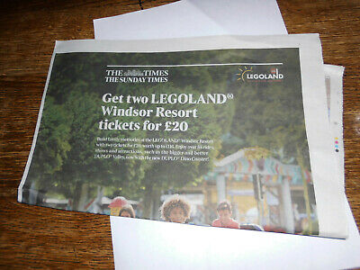 2 X Legoland Windsor Resort Tickets For £20, Set Of Codes To Book Ticket Online