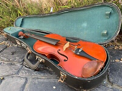 House Clearance Attic Find Classic Project Violin And Case Spares Parts Derby