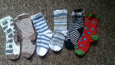 Gorgeous Six Pairs of Assorted Short  Socks, Shoe size kids 9-12  BNWOT