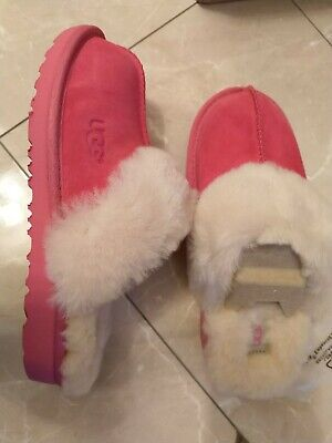 BNIB UGG pure Uggs K-Cozy II Slipper Pink kids junior girls ladies sheepskin