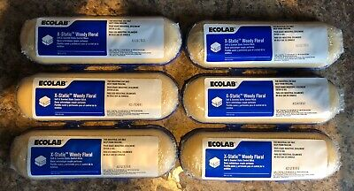 Case of 6 Ecolab  X-static Woody Floral Static Blocks