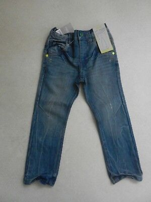 BNWT Next Boys Skinny Tapered Fit Jeans Light Blue Age 5 Years Adjustable Waist