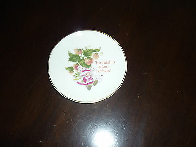 Strawberry Shortcake Porcelain Dish/Plate 'Friendship Is The Berries'