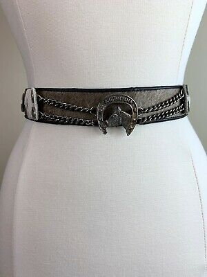 Vintage Argentina Argentinian Gaucho Leather Coin Belt Western Americana