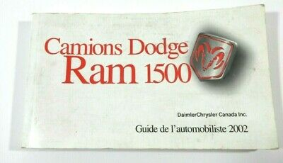 2002 Dodge Ram 1500 Owners Manual French