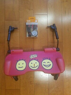 Guc Lascal Buggyboard Red Universal Ride-On Stroller Board W/ New Connector Kit