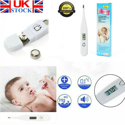 Baby Adult Safe Oral Electronic Thermometer Digital LCD Medical Thermometer UK