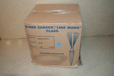 "^^ Stake Chaser/Line Mark Flags Blue 6"" - New (A1)"