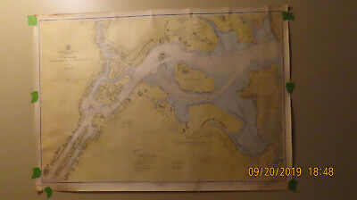 2 Vintage USC & GS Maps, 1945 #746 Hudson River and 1947 #226 East River