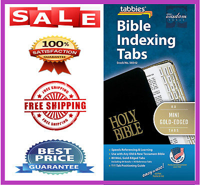 Tabbies Mini Gold Edged Bible Indexing Tabs Old & New Testament 80 Including 64