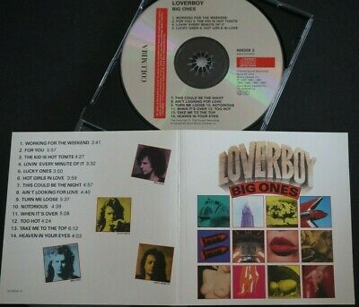 LOVERBOY Big Ones CD TOP Canadian Hard Rock AOR 1989 with MIKE RENO & PAUL DEAN