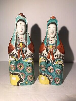 2 Antique Chinese porcelain Guan yin figurines