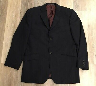 Mens Ted Baker Endurance 100% Wool 2-Button Blazer Sport Coat Navy Blue 40R