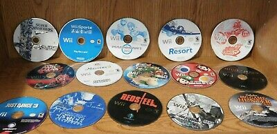 Wii Pick and Choose Lot Mario, Super Mario, Wii Sports and More Tested Disc Only