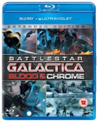 Luke Pasqualino, Ben Cotton-Battlestar Galactica: Blood and Chrome  Blu-ray NEUF