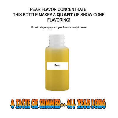Pear Mix Snow Cone/Shaved Ice Flavor Concentrate Makes 1 Quart
