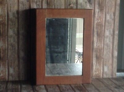 Antique Timber Medicine Cabinet - Vintage Wooden First Aid Cabinet With Mirror