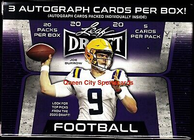 2020 Leaf Draft Football Premium Hobby Blaster Factory Sealed Box