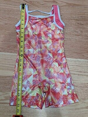 CAPEZIO FUTURE STAR gymnastics  kids leotard dance biketard bodysuit Size Small