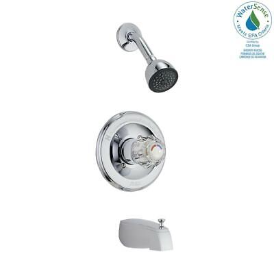 Delta Classic 1-Handle Wall-Mount Tub and Shower Faucet Trim Kit in Chrome