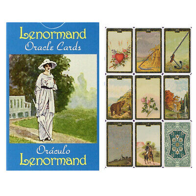 44pcs Lenormand Oracle Cards Playing Board Game Oracle Cards Set Gift