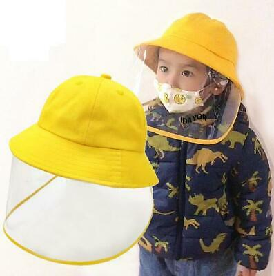 Kids Fisherman Hat Anti Saliva-proof Fog with Clear Protective Boys Outdoor Cap