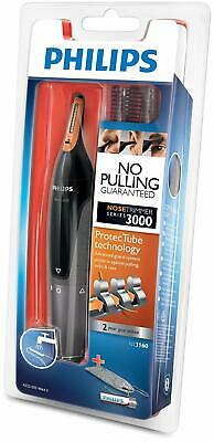 Philips Series 3000 Ear, Eyebrow & Nose Trimmer with 2 Eyebrow Combs & Pouch, Bl