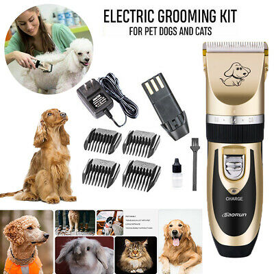 Electric Pet Dog Grooming Clippers,Cordless Pet Hair Shaver,Grooming Trimmer Kit