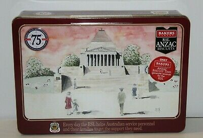Anzac Biscuit Tin Commemorating WW11 75 Years Limited Edition 500g Empty 2020