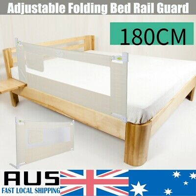 1.8M Kids Child Bedguard Toddler Safety Bed Rail Guard Folding Protection AU
