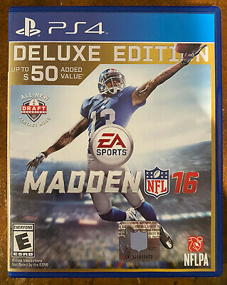 Madden NFL 16 (deluxe edition) Playstation 4 PS4 Game