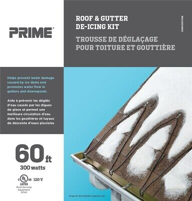 ProSource Roof And Gutter De-Icing Cable Kit 60 Ft 300 W (3) 18 Awg Conductor