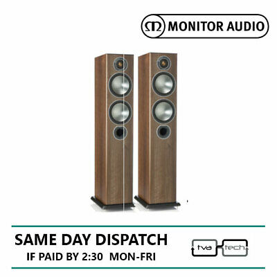 Monitor Audio Bronze 5 Pair of Floorstand Speakers Walnut 5 years warranty