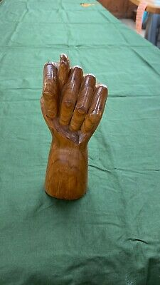 """Figa - Carved Solid Wood Sculpture Of Hand. Symbol Of """"Good Luck""""."""