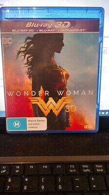 Wonder Woman - (3D + 2D) Blu-ray NEW AND UNSEALED REGION B FREE POSTAGE