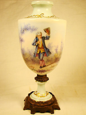 "Artist Signed (Collin) Paris Porcelain Portrait Urn early 19th century 7 1/4""h"