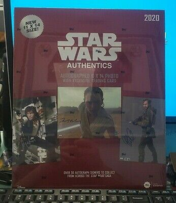 2020 Topps Star Wars Authentics Autographed 11x14 Photo Factory Sealed
