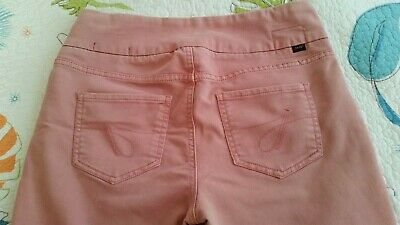 Jag Jeans Womens High Rise Slim Ankle Pull On Jean Pants SZ 8 Dusty Coral/Salmon