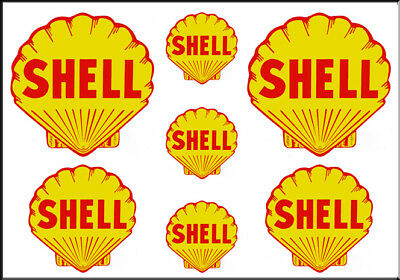 VINTAGE STYLE 4 INCH SUPER SHELL GASOLINE GAS OIL WATERSLIDE DECAL STICKER