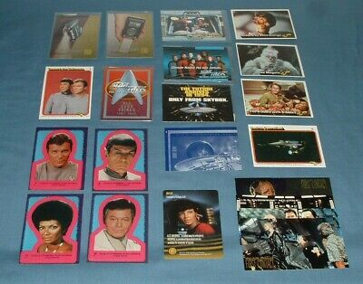 (20) Star Trek Promo, Chase, Regular, & Vintage Trading Cards - Used Condition